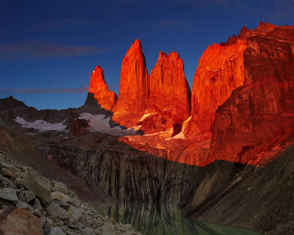 Sunrise in Torres Del Paine (over the three towers), day one of w trek.