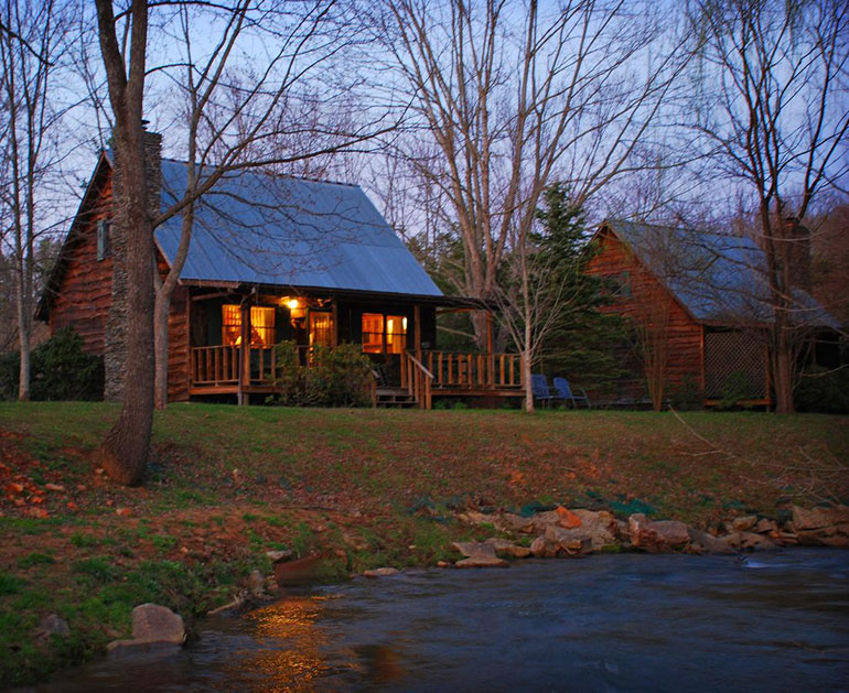 A cabin in Mountain Springs Cabins, North Carolina Mountain Resort.