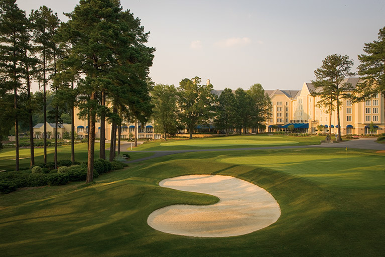 The sweeping golf course in North Carolina's Washington Duke Inn.