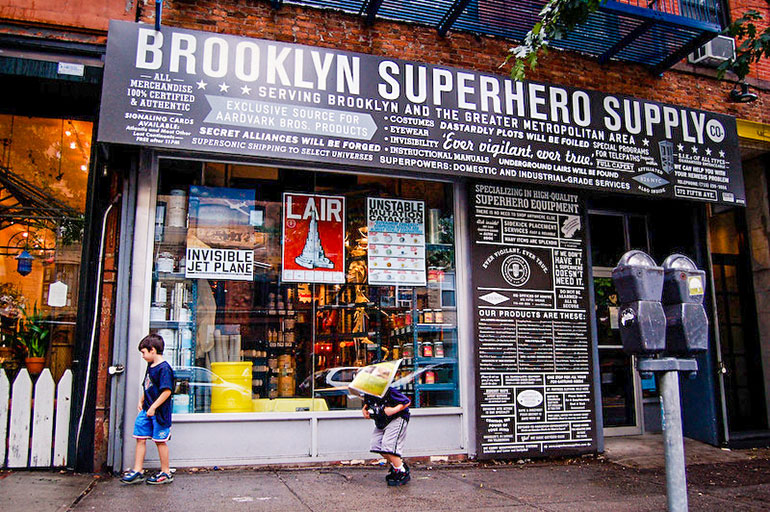Downtown Brooklyn's Superhero supply store.