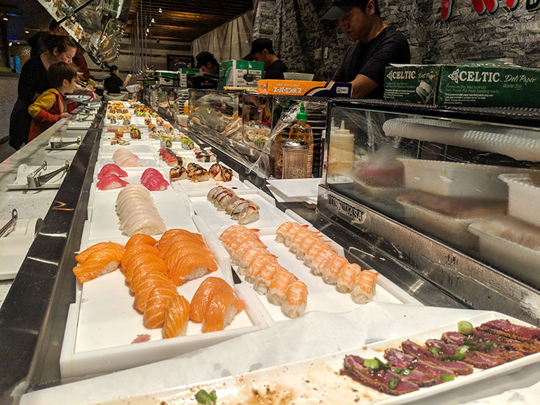 Mizumi Sushi buffet outside of Sunny Isles. Florida is a great place to have a family dinner.