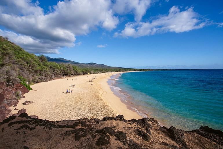 Big beach in Maui, Hawaii.