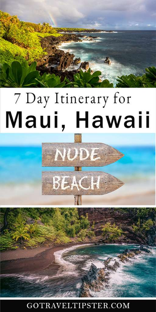 Red Sand beach, nude beach and Piilani Trail in Maui, Hawaii