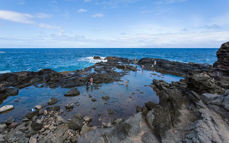 Olivine Pools in Northwest Maui.