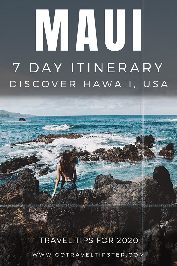 Pinterest Maui Itinerary in seven days.