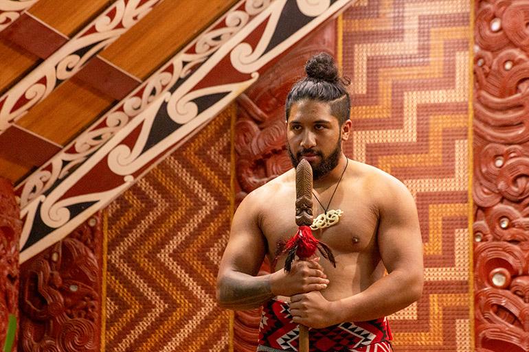 Maori cultural show in Te Puia Complex