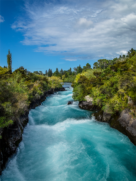 Huka Falls, North Island New Zealand.