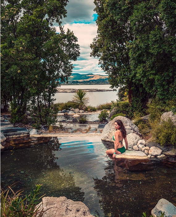 Polynesian hot springs in New Zeland.