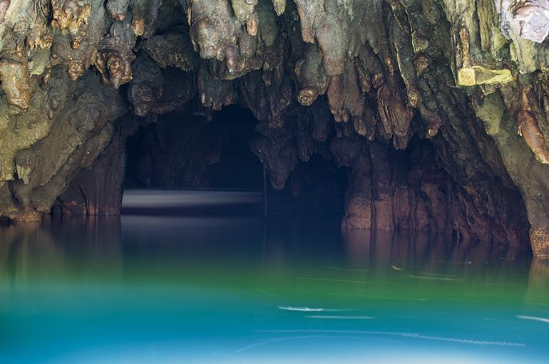 Waitomo glowworm cave entrance, North Island, New Zeland.
